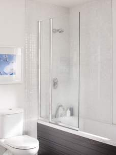 Kohler Daryl Bath Screens -  051 Twin Panel Bathscreen Squ S/cl900l