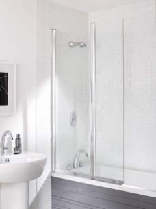 Kohler Daryl Bath Screens -  052 Twin Panel Bathscreen Squ S/cl900r