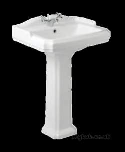 Eastbrook Sanitary Ware -  24.0005 Eastbrook Belgravia Pedestal White