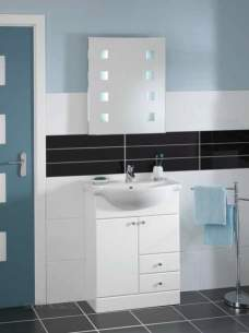 Be Modern Atlanta Concepts Aquis -  Aquis 660 White 2 Door Unit And Basin