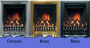 Be Modern Fires Gas and Electric -  Bm Classic Gas Fire 120mm-brass 8117