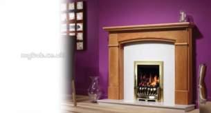 Be Modern Fire Surrounds -  46 Inch Hampshire Mantel Medium Oak