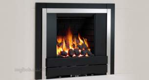 Be Modern Fires Gas and Electric -  Be Mod Panoramic 180mm Brick Back Pebble