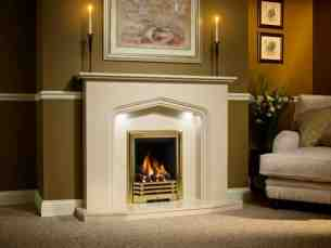 Be Modern Fire Surrounds -  53 Inch Portia Pearlstone 16 Inch C/o 5 Sided Hth