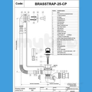 Mcalpine Metalic Traps and Waste -  Brasstrap-25-cp 1.5 Inch Bath Tr Waste O/flow