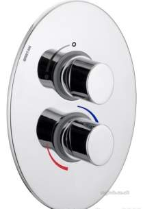 Bristan Showering -  Oval Dual Control Thermo Shower Valve Cp