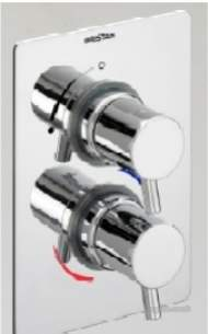 Bristan Showering -  Prism Conc Thermo Shower Valve Only Cp