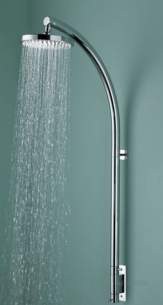 Bristan Showering -  Prism Inline Vertical Shower Pole And Fxd Head