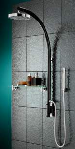Bristan Showering -  Prism Inline Vertical Shower Pole With Pm Vshxspdiv B