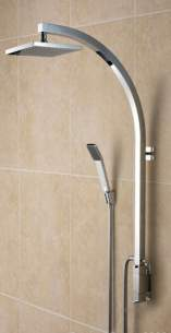 Bristan Showering -  Qube Inline Vertical Shower Pole With