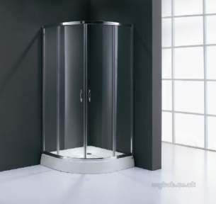 Bristan Showering -  Value 800mm 4 Part Sliding Quad Shower Encl