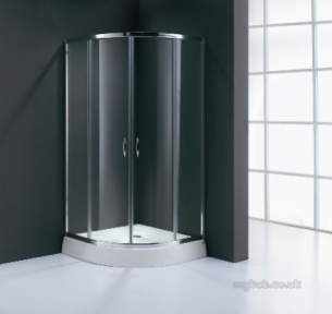 Bristan Showering -  Value 900mm 4 Part Sliding Quad Shower Encl