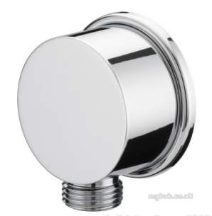 Bristan Showering -  Wo4c Cylindrical Brass Wall Outlet Cp