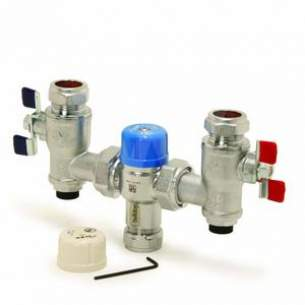 Pegler Thermostatic Mixing Valves -  22mm Bulldog Ilc Tmv3 And 2 With Av