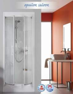 Saniflo Kinedo Shower Cubicles -  Epsilon 800 X 800mm Saloon Plain Cubicle