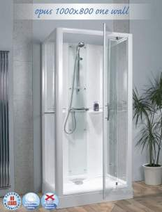 Saniflo Kinedo Shower Cubicles -  Kinedo 1000 X 800 Thermo Shower Cubcile Ca105