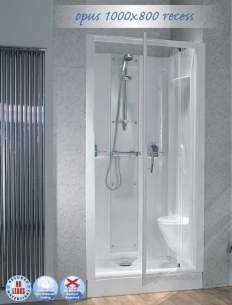 Saniflo Kinedo Shower Cubicles -  Kinedo 1000 X 800 Thermo Shower Cubcile