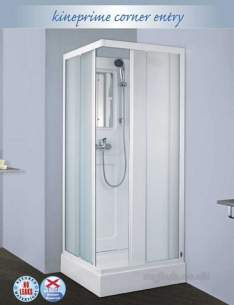 Saniflo Kinedo Shower Cubicles -  Kineprime 900 X 900mm Corner Cubicle