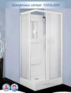 Saniflo Kinedo Shower Cubicles -  Kineprime 1000 X 800mm Corner Cubicle
