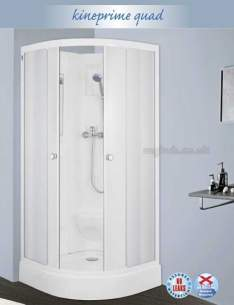 Saniflo Kinedo Shower Cubicles -  Kineprime 900 X 900mm Quadrant Cubicle
