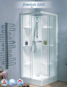 Saniflo Kinedo Shower Cubicles -  Kinedo F/style 2000 Thermo S/cubicle Wh