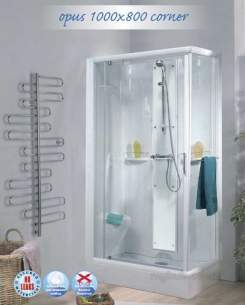 Saniflo Kinedo Shower Cubicles -  Kinedo Opus 1000 X 800 Thermo S/cubilce