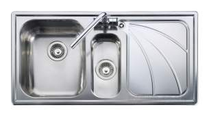 Rangemaster Sinks -  Chicago Cg9852 1 5b Rhd Sink And Pu Waste Ss