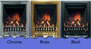 Be Modern Fires Gas and Electric -  Bm Classic Gas Fire 180mm-brass 9555