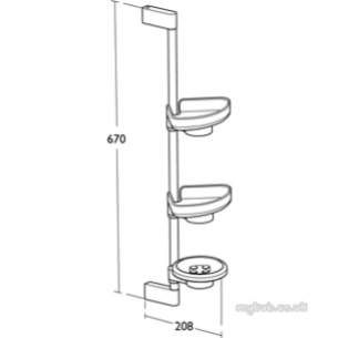 Ideal Standard Concept Accessories -  Ideal Standard Concept N1326aa Totem Shower 670mm