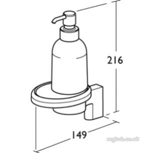 Ideal Standard Concept Accessories -  Ideal Standard Concept N1322aa Soap Dispenser Ceramic
