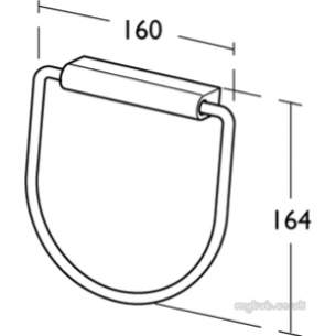 Ideal Standard Concept Accessories -  Ideal Standard Concept N1317aa Towel Ring Cp