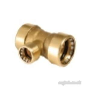 Ibp Conex Cuprofit Push Fit Fittings -  Ibp Pushfit Red Branch Tee 22x22x15mm