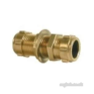 Ibp Conex Compression Fittings -  Conex 301bh 15mm Str Coupling Bulkhead