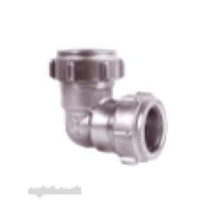 Ibp Conex Compression Fittings -  Ibp Conex Conex 401cp Chrome Plated 54mm Elbow