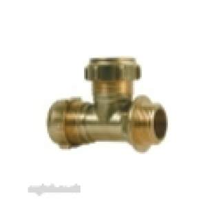 Ibp Conex Compression Fittings -  Conex Dzr S631 22mm X 3/4 Inch Mi X 22mm Tee