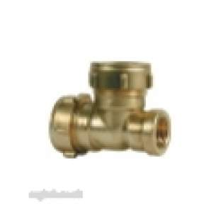 Ibp Conex Compression Fittings -  Conex 684 22mm X 3/4 Inch Fi X 22mm Tee