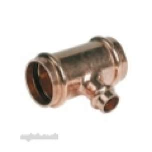 Ibp B Press Crimp Fittings 35mm 54mm -  Ibp B-press P25 35x35x15mm Red Brnch Tee