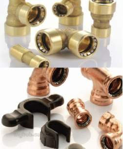 Ibp Conex Cuprofit Push Fit Fittings -  Ibp Pushfit Bent Tap Conn 15x1/2