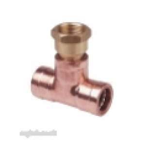 Ibp Conex Cuprofit Push Fit Fittings -  Ibp Cuprofit 22mm X 1/2 Inch Fi Tee R130g