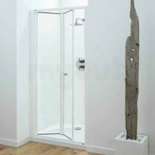 Coram Optima Shower Enclosures -  Coram Optima 700mm Bi-fold Door Ch/cl Door Only