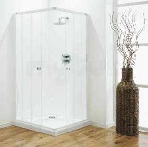 Coram Optima Shower Enclosures -  Coram Optima 800mm Corner Entry Ch/sa