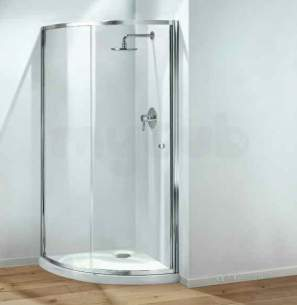 Coram Optima Shower Enclosures -  Coram Optima 850mm Crescent Door Wh/cl Door Only