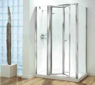 Coram Optima Shower Enclosures -  Coram Optima 1000mm Inline Panel Ch/mod1