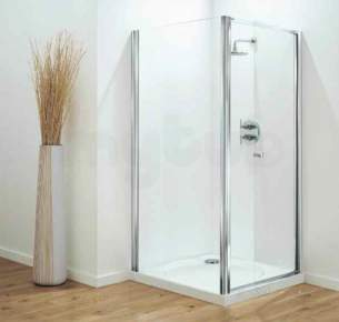 Coram Optima Shower Enclosures -  Coram Optima 900mm Pivot Door Ch/cl Door Only