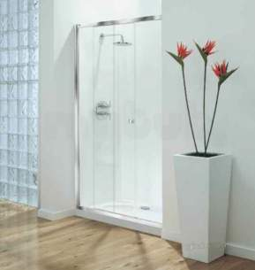 Coram Optima Shower Enclosures -  Coram Optima 1200mm Sliding Door Ch/cl Door Only