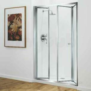 Coram Optima Shower Enclosures -  Coram Optima 1200mm Trifold Door Wh/cl Door Only
