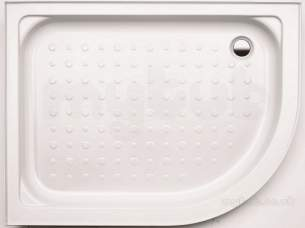 Coram Waterguard Shower Trays -  Coram 1200x800mm White Offset Quad Right Hand