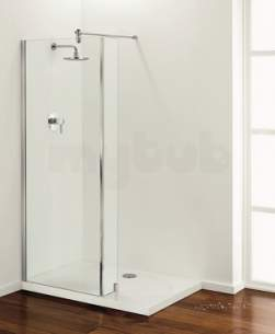Coram Walk In and Accessories -  Coram Tube Shower Return Panel 200mm Chrome/satin