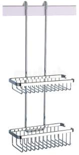 Coram Double Shower Basket Suspended