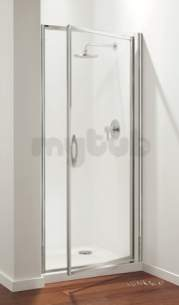 Coram Premier Shower Enclosures -  Premier Pivot Door 900mm White/plain Glass Door Only